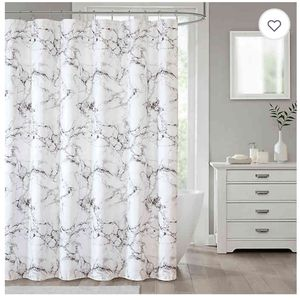 Silver Marble Shower Curtain